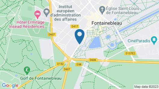 Campanile Fontainebleau Map
