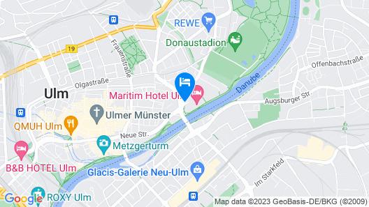 Maritim Hotel Ulm Map