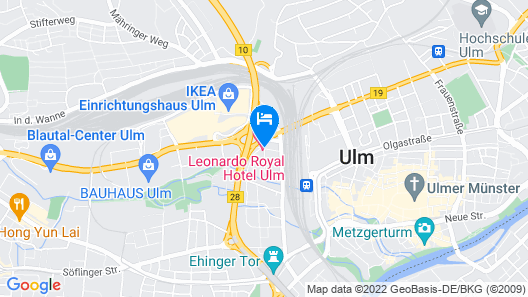 Leonardo Royal Hotel Ulm Map