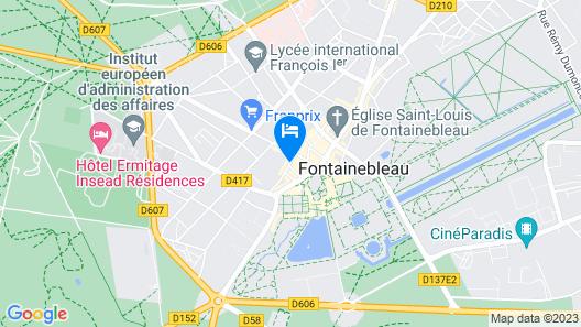 ibis Château de Fontainebleau Map