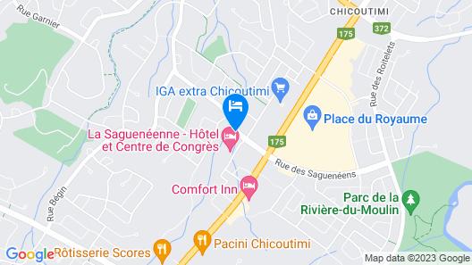 La Saguenéenne - Hôtel et Centre de Congrès Map