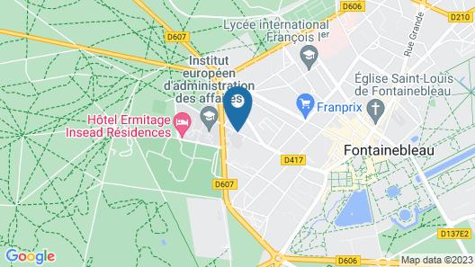 Mercure Château Fontainebleau Map