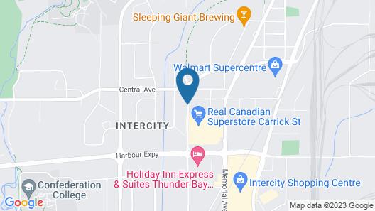 Holiday Inn Express & Suites Thunder Bay Map