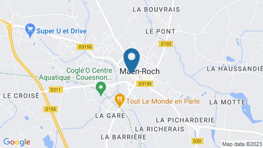 The Originals Boutique, Hôtel Le Lion d'Or, Fougères Ouest (Inter-Hotel) Map
