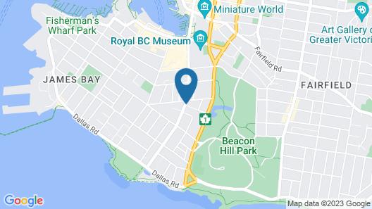 James Bay Inn Hotel & Suites Map