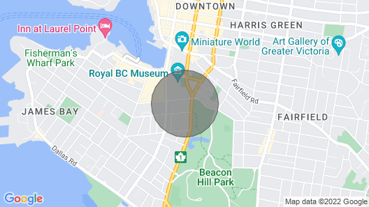 Hemingway Hideaway. Walk to Everything! Harbour, Parliament, BC Museum, & More Map