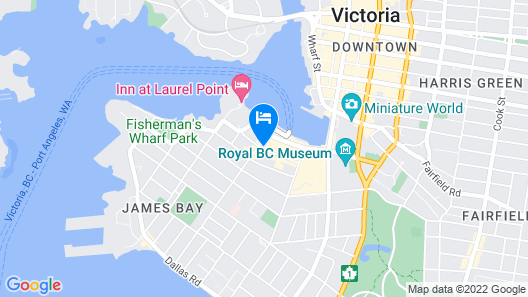 Best Western Plus Inner Harbour Map