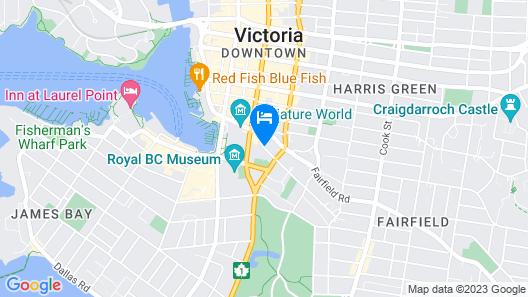Victoria Marriott Inner Harbour Map