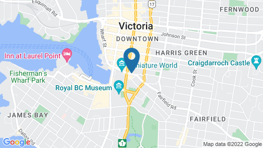 DoubleTree by Hilton Hotel & Suites Victoria Map