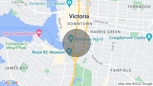 Luxury Quiet Oasis in the Middle of Downtown Victoria, BC: 5G WiF Map