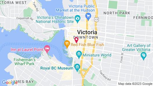 Bedford Regency Hotel Map