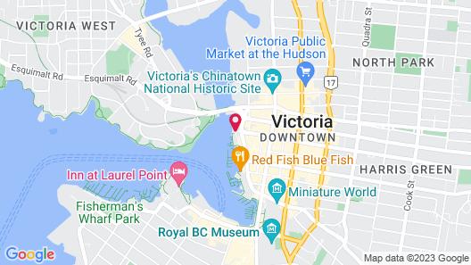 Victoria Regent Waterfront Hotel & Suites Map