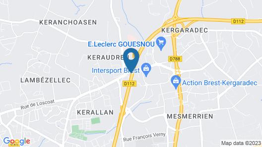 ibis Brest Kergaradec Map