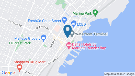 Prince Arthur Waterfront Hotel & Suites Map
