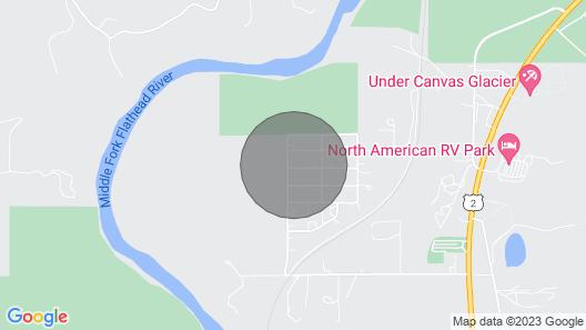 Elk Street Retreat Near Glacier Park Map