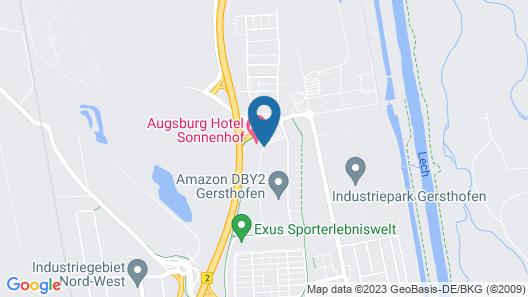 Augsburg Hotel Sonnenhof Map
