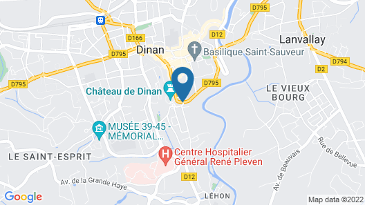 house in the center of DINAN (next to the castle) Map