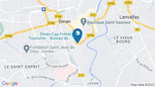 The Originals Boutique, Hôtel du Château, Dinan Map