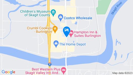 Hampton Inn & Suites Burlington Map