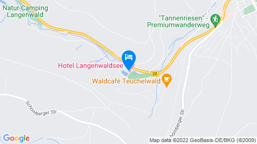 Hotel Langenwaldsee Map