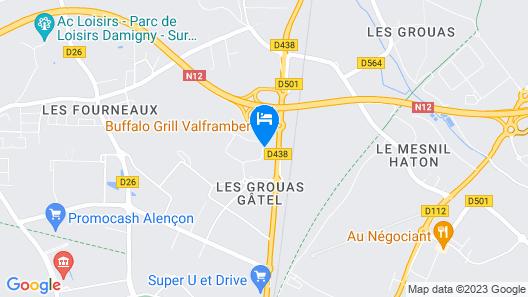 B&B Hotel Alencon Nord Map