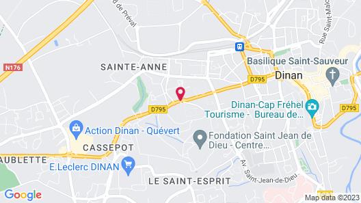 Brit Hotel Dinan Le Connetable Map