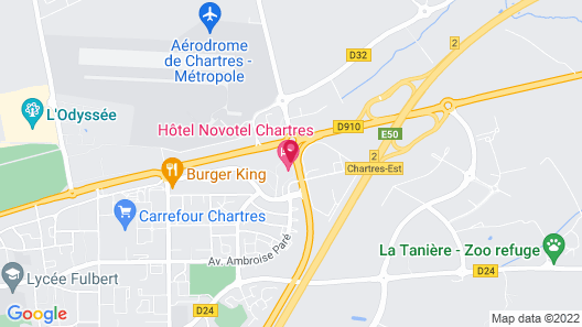 Novotel Chartres Map