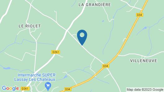 La Cloue B&B Map