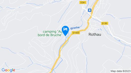 Camping Au bord de Bruche Map