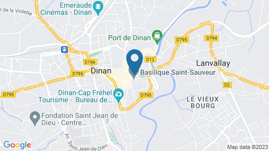 Apartment (3eG) Dinan historic center Map