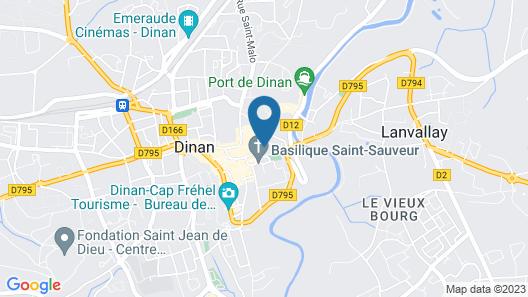 Duplex Dinan Basilica of Saint Savior Map