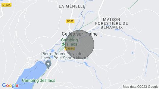 Gîte du Pays des Lacs de Pierre Percée Vosges Map