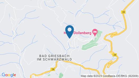 Vintage Hotel Hoferer Map