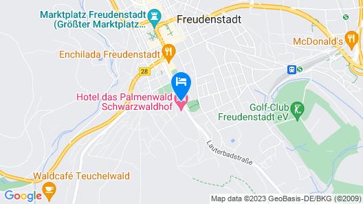Wellnesshotel Palmenwald Schwarzwaldhof Map