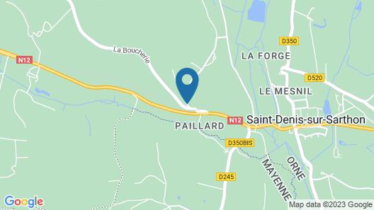 Maison d'hôtes Les Bruyeres Map