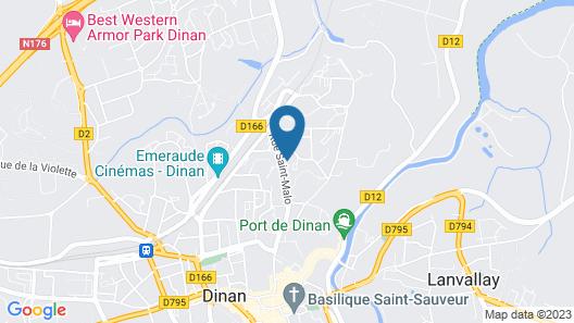 Dinan, Town House Map