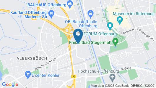 Mercure Hotel Offenburg am Messeplatz Map