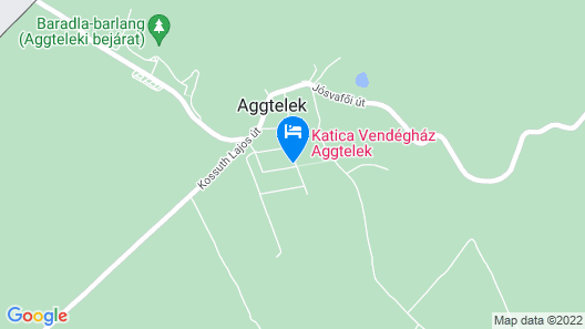 Katica Guesthouse Aggtelek Map
