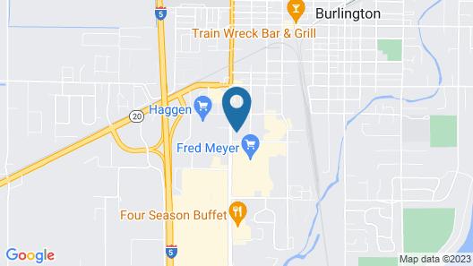 Motel 6 Burlington, WA Map