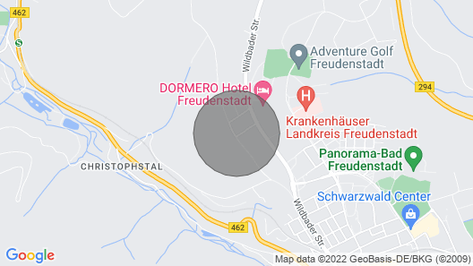 Exceptional 4-star apartment (121 m2) panoramic view above sea level. Freudenstadt Map