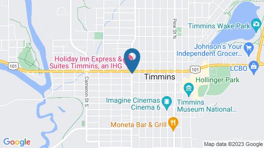 The Senator Hotel & Conference Centre Timmins Map