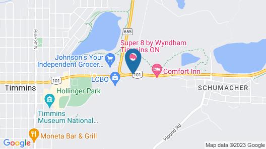 Super 8 by Wyndham Timmins ON Map