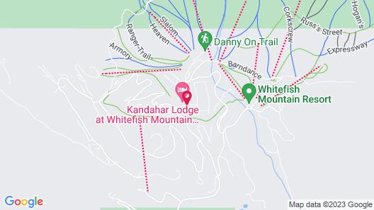 Kandahar Lodge at Whitefish Mountain Resort Map