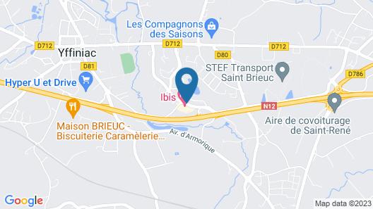 ibis Saint Brieuc Yffiniac Map