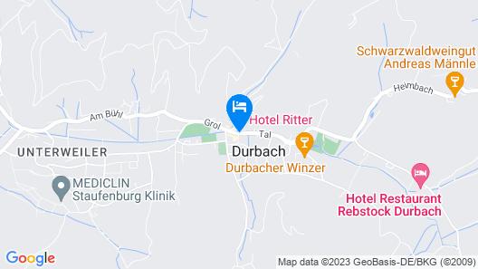 Hotel Ritter Durbach Map
