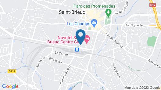 ibis Styles Saint-Brieuc Gare Centre Map