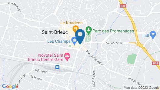 Best Western Le Duguesclin Map