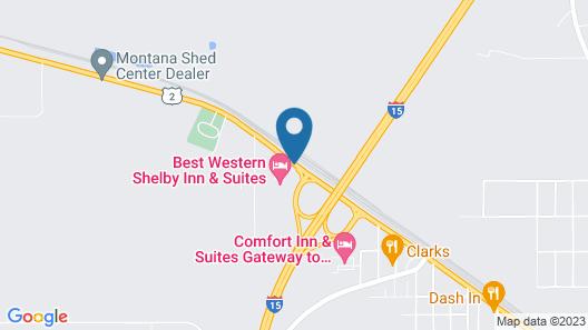 Best Western Shelby Inn & Suites Map