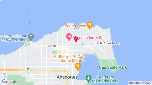 Ana's Bed and Breakfast Map