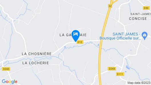 Chambres d'Hôtes La Gautraie Map